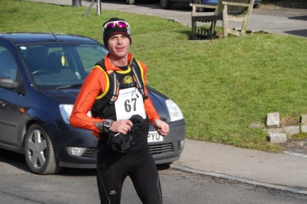 Gary T finishing Osmotherly trail marathon